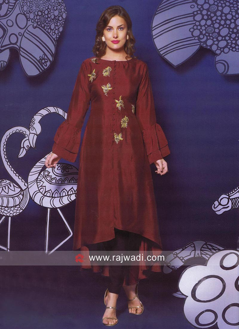 Paper Silk Short Long Kurti