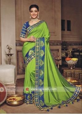 Parrot Green Designer Kajal Aggarwal Sari