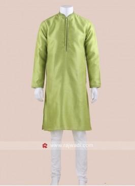 Parrot Green Kurta Pajama