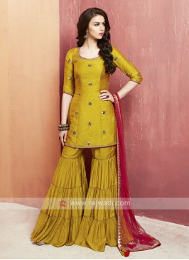 Party Special Rayon Silk Gharara Suit