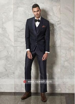 Party Wear Blue Color Suit