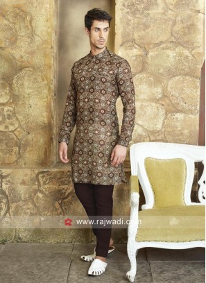 Party Wear Brown Pathani Suit