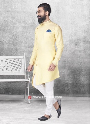 Party Wear Linen Fabric Pathani Set