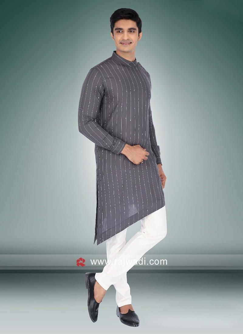 Party Wear Cotton Pathani Suit