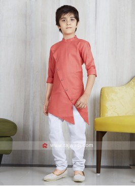 Party Wear Cotton Silk Pathani Suit