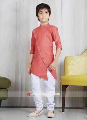 Party Wear Cotton Silk Pathani Suit