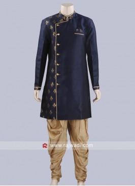 Party Wear Dark Navy Blue Patiala Suit