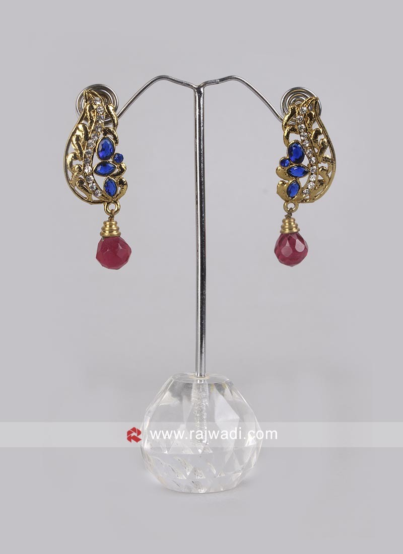Party Wear Earrings with Push Closure