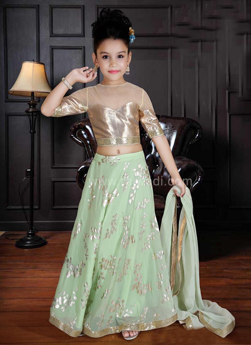 Party Wear Embroidered Choli Suit