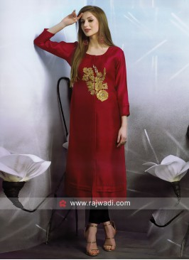 Party Wear Front Slit Kurti