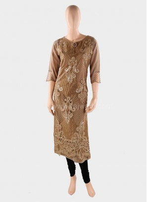 Party Wear Georgette and Net Kurti