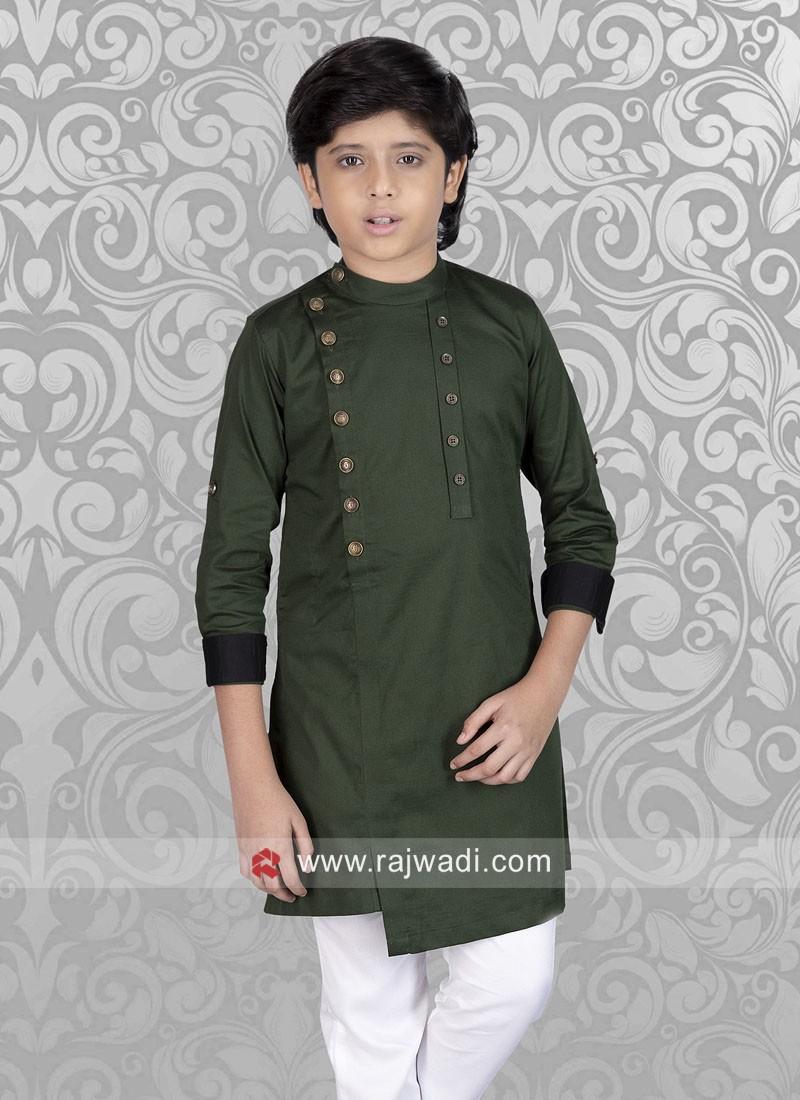 Party wear Green Kurta
