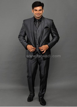 Party Wear Grey Suit for Men