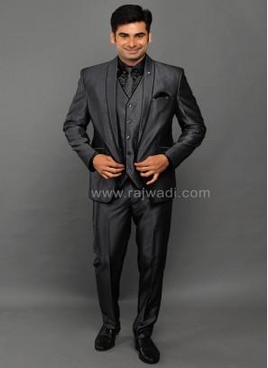 Party Wear Grey Suit for Men