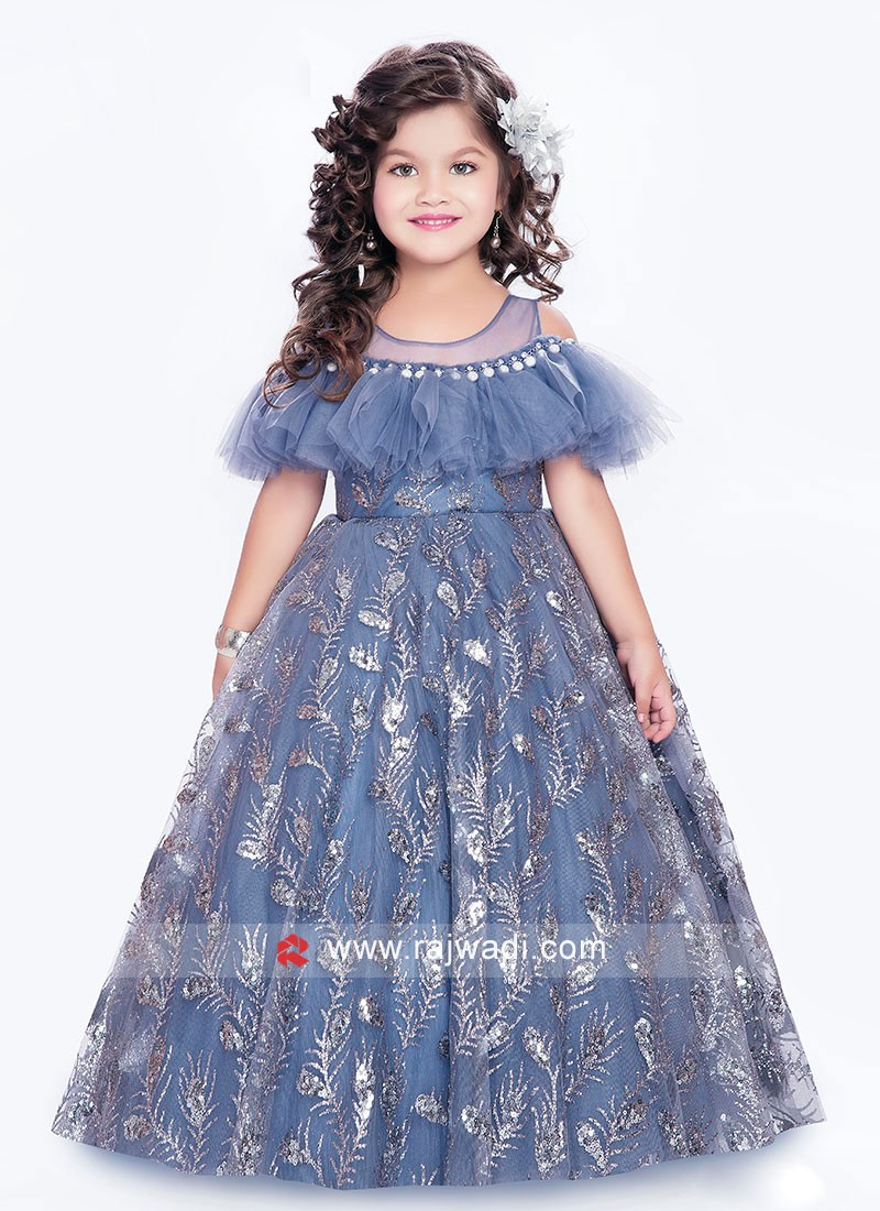 Party Wear Kids Flare Gown
