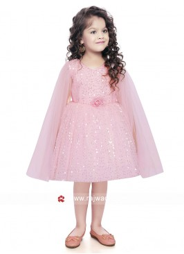 Party Wear Kids Gown in Light Pink