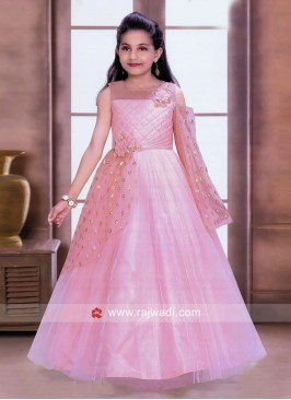 Party Wear Kids Gown in Pink