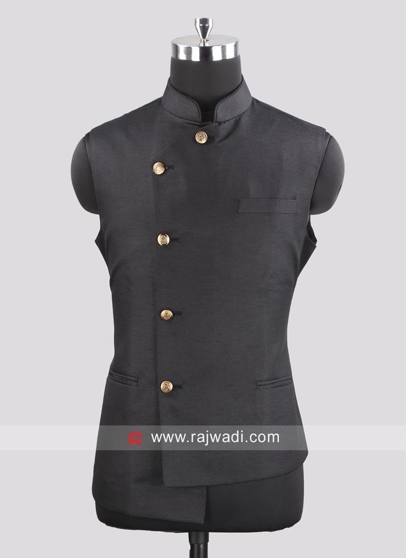 Party Wear Koti In Black