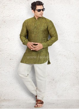 Party wear Linen Pathani Suit
