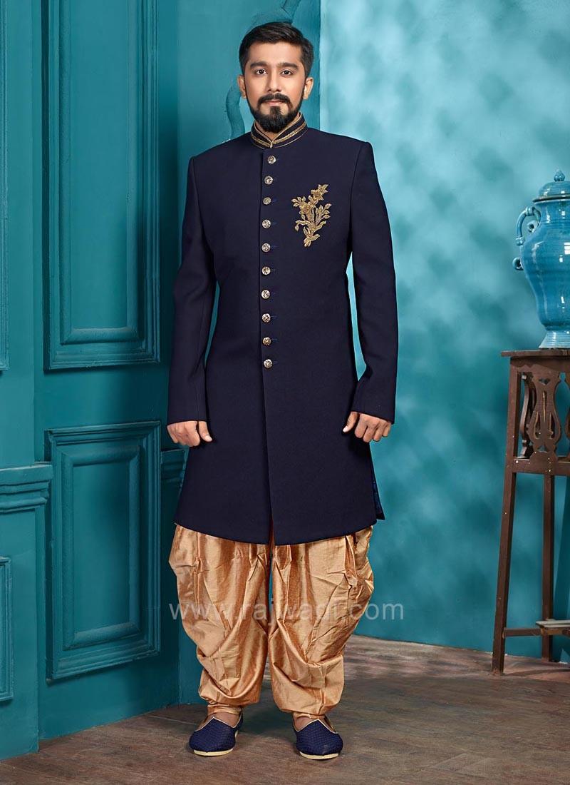 Party Wear Navy Color Indo Western
