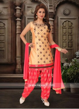 Party Wear Patiala Suit with Dupatta