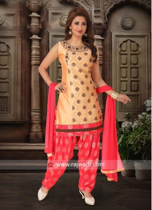 Party Wear Patiala Suit with Dupatta