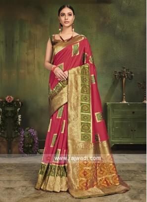 Party Wear Patola Silk Saree