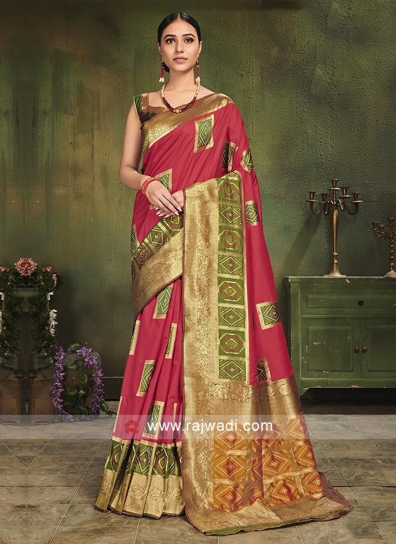 Party Wear Patola Silk Saree