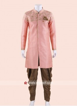 Party Wear Peach Indo Western