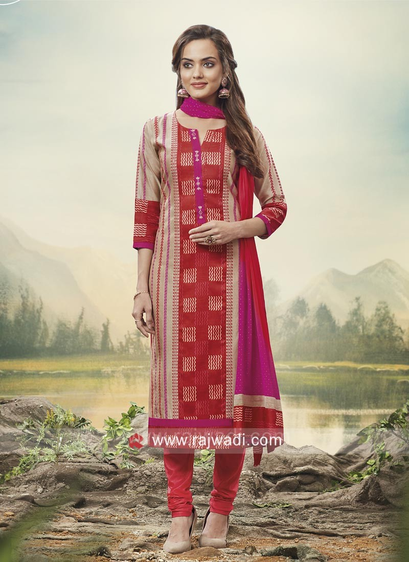 Party Wear Printed Salwar Kameez