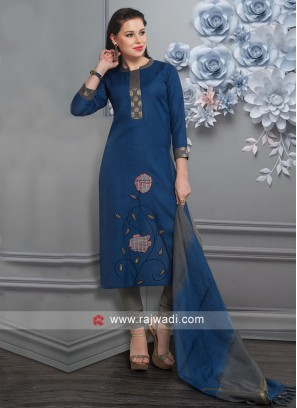 Party Wear Royal Blue Salwar Suit