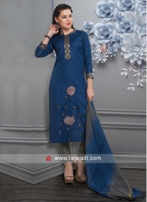 Party Wear Royal Blue Salwar Suit