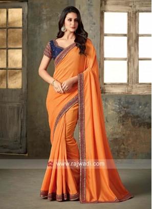 Party Wear Saree in Orange