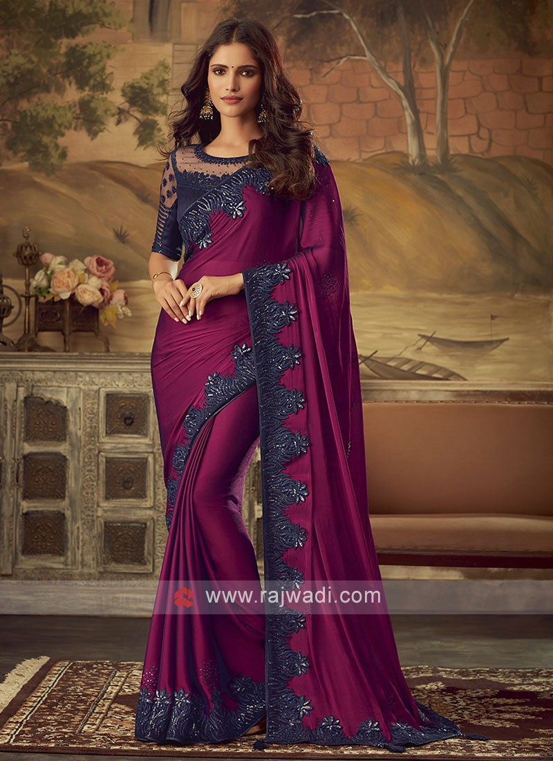 Party Wear Saree with Blouse