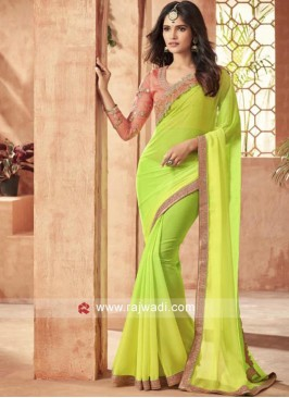 Party Wear Shaded Saree with Blouse