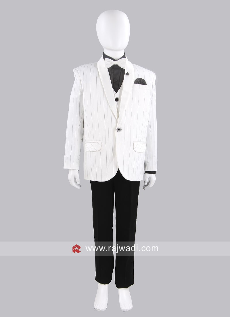 Party Wear Suit in White