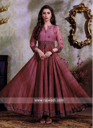 Party Wear Thread Work Anarkali Kurti