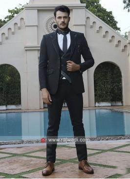 Party Wear Black Color Suit
