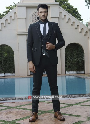 Party Wear Black Color Suit