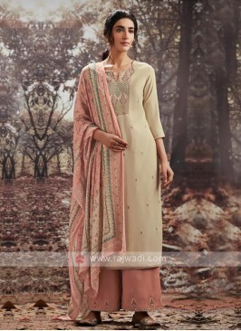 Pashmina Embroidery Dress Material