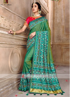 Designer Saree In Patola Style