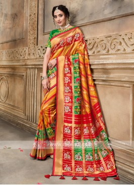 Attractive Silk Designer Saree
