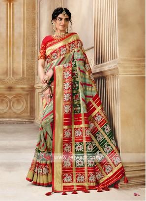 Patola Style Silk Designer Saree
