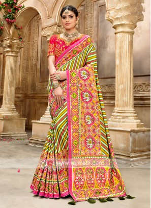 Silk Designer Saree In Patola Style