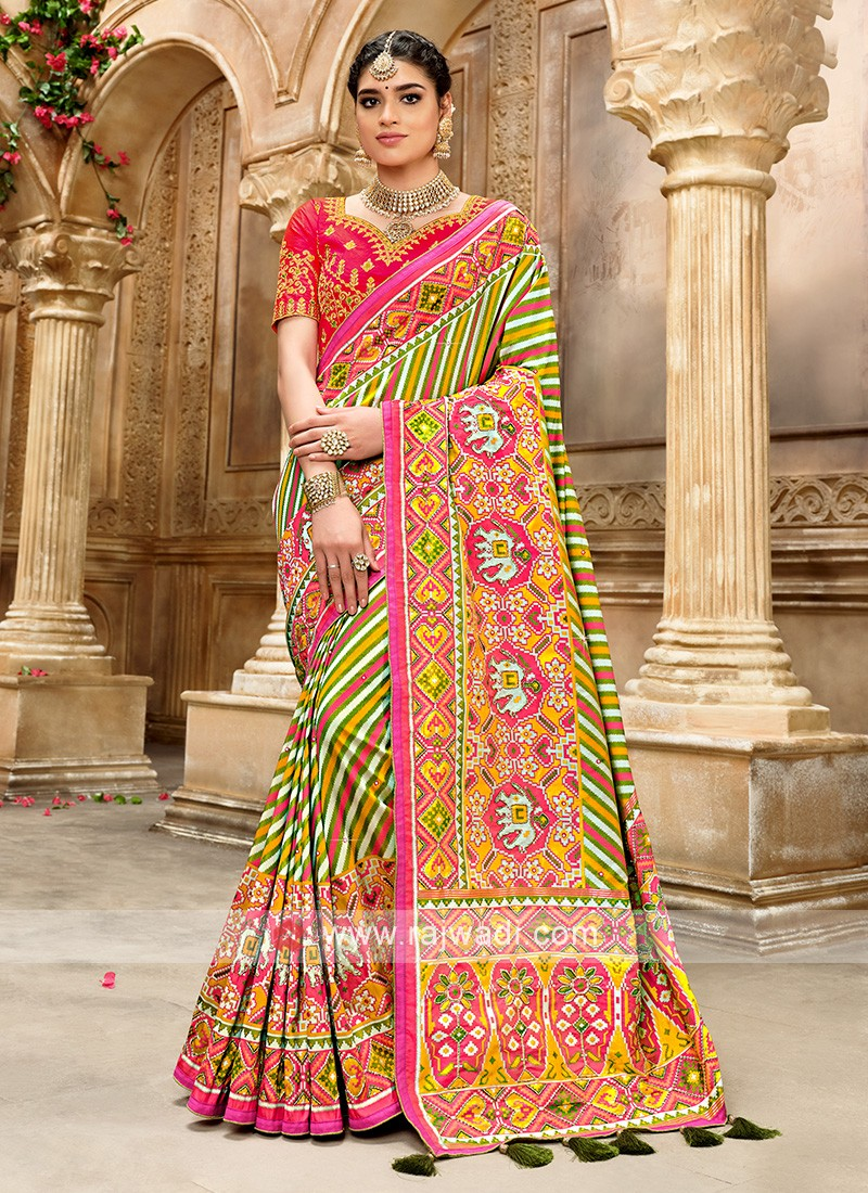 Silk Designer Saree In Patola Style