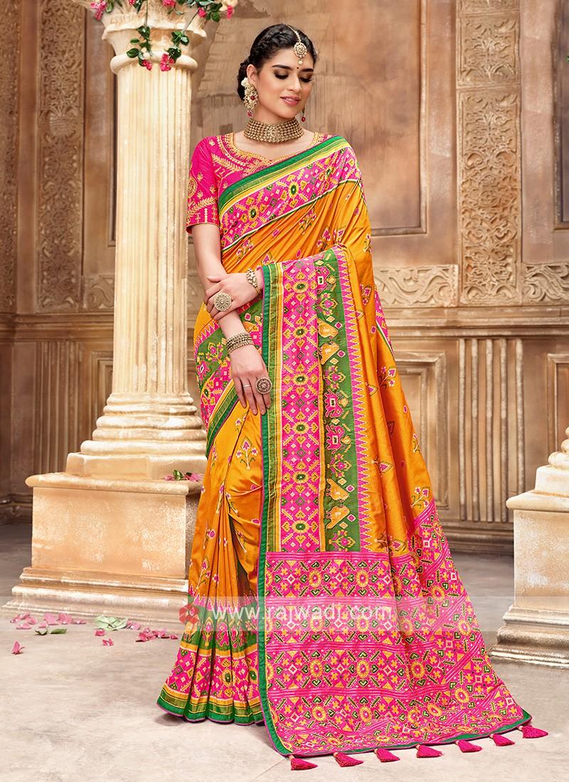 Patola Style Silk Saree