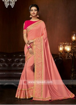 Patch Border Art Silk Designer Saree