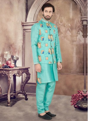 Patch Work Nehru Jacket Suit For Wedding