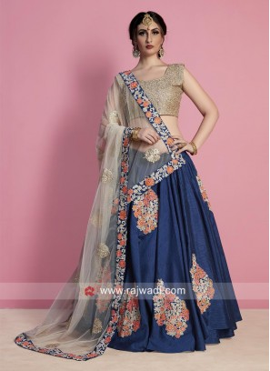 Patch Work Wedding Lehenga Set