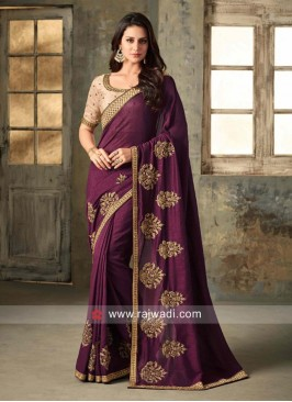 Patch Work Wedding Saree